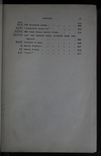 "Third Page of the Table of Contents for the 1883 James Nisbet & Co. ""New Edition"" Reprint"