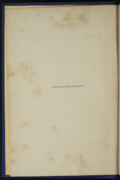 "Colophon for Volume 1 of the 1852 James Nisbet, Sampson Low, Hamilton, Adams & Co. ""Second Edition"" Reprint"
