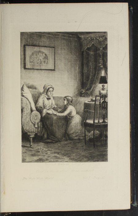 Illustration on Page 10a of Volume 1 of the 1888 J.B. Lippincott Co. Reprint Depicting Mamma and Ellen in the Parlour