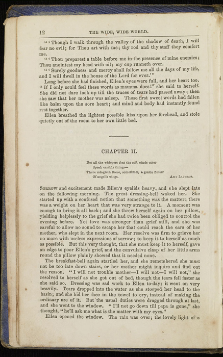 Example Chapter Break of the 1853 T. Nelson & Sons Reprint