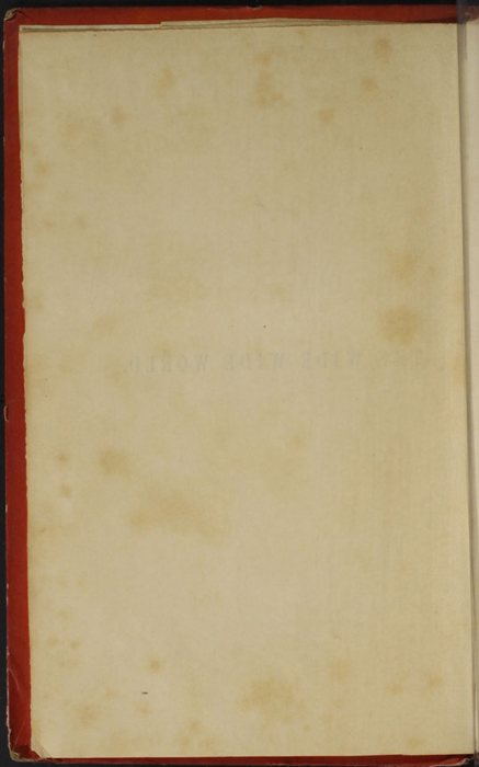 "Verso of Title Page to the 1853 T. Nelson & Sons ""Nelson's Library for Travellers and the Fireside"" Reprint"