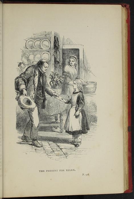Illustration on Page 378A of the [1891] James Nisbet &amp; Co. Reprint Depicting Thomas Delivering John's Gift of <em>The Pilgrim's Progress</em> to Ellen