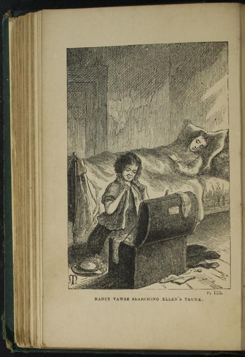 Illustration on Page 122b of the [1879] Milner & Sowerby  Reprint Depicting Ellen's Sickbed