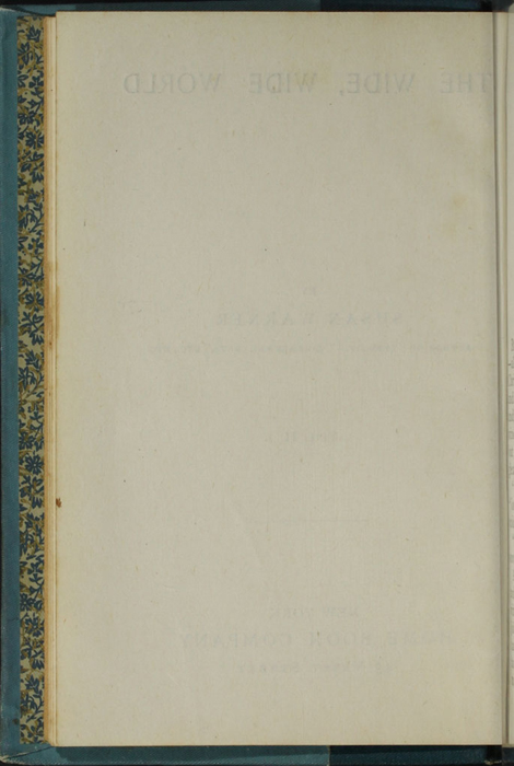 Verso of Title Page to Volume 2 of the [1902] Home Book Co. Reprint, Version 2