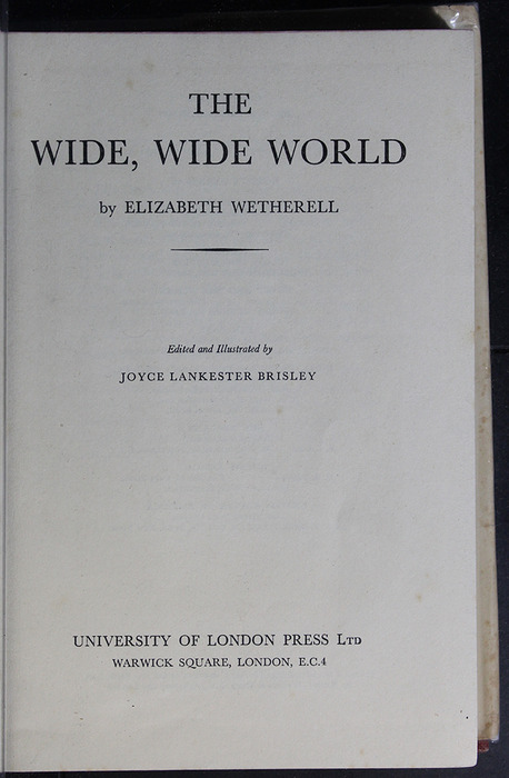 Title Page to the [1950] University of London Press, Ltd. Abridged Reprint