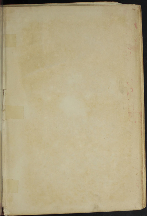 Recto of Front Flyleaf of the [1897] Bliss, Sands & Co. Reprint