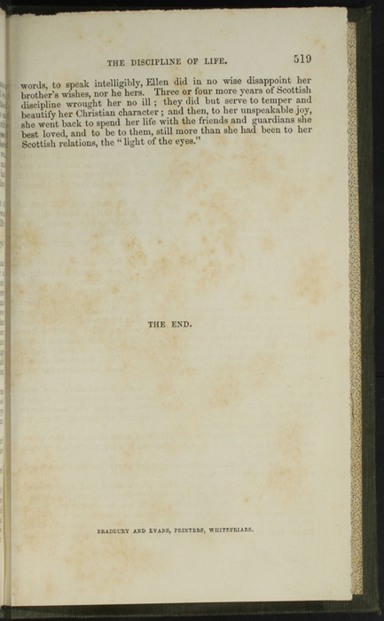 """Back Colophon in the 1853 H. G. Bohn """"Standard Library"""" Reprint"""