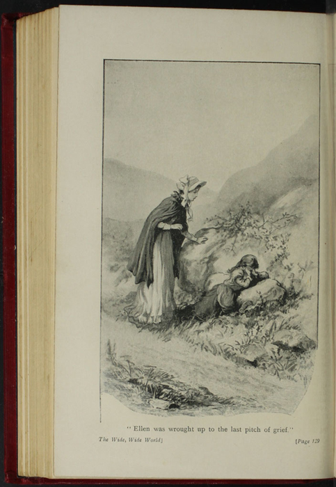 """Illustration on Page 128b of the [1902] Ward, Lock and Co. Ltd. """"Complete Edition"""" Reprint, Depicting Alice Finding Ellen on the Cat's Back"""