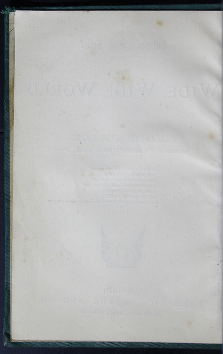 "Verso of Title Page to the [1884] Frederick Warne & Co. ""Star Series"" Reprint"