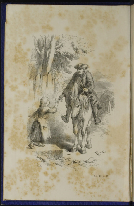 """Frontispiece to Volume 2 of the 1853 James Nisbet, Hamilton, Adams & Co. """"New Edition"""" Reprint Depicting the Letter Carrier's Arrival"""