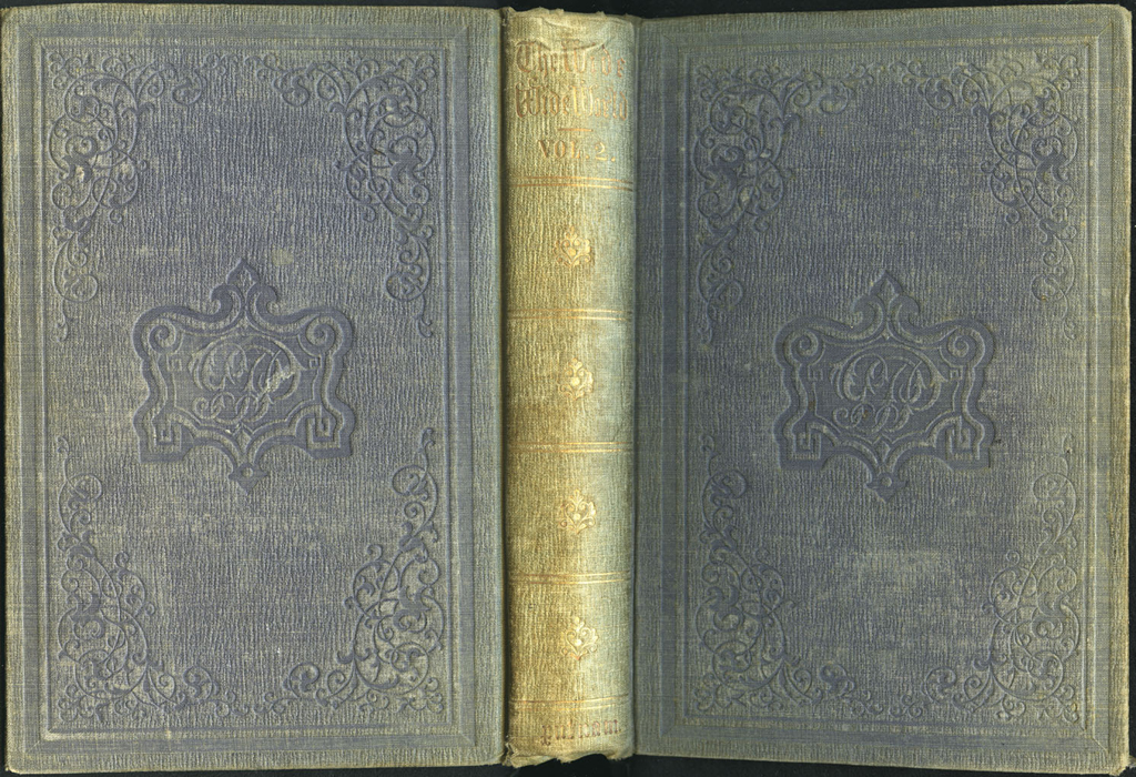 Full Cover of Volume 2 of the 1851 George P. Putnam First Edition, Version 3