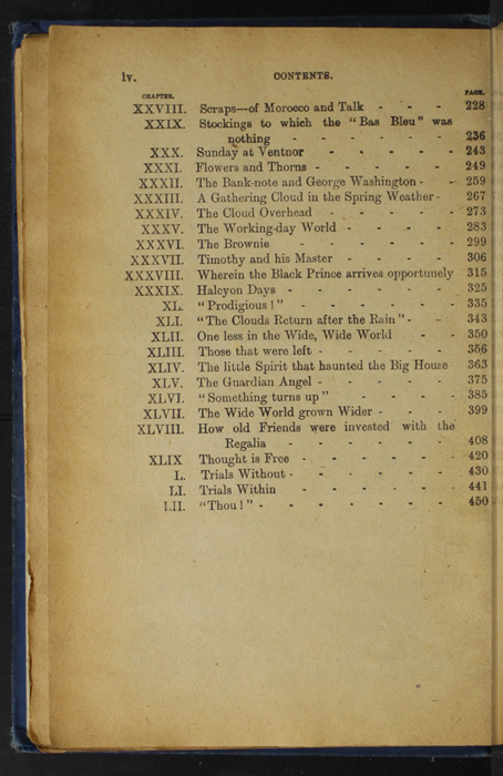 Second Page of the Table of Contents for the [1932] Epworth Press Reprint