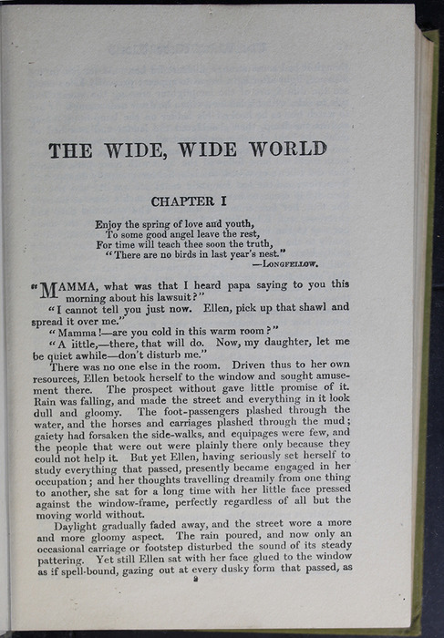 First Page of Text in the [1907] Grosset & Dunlap Reprint, Version 4