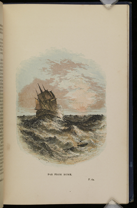 "Illustration on Page 62a of the 1886 James Nisbet & Co. ""New Edition, Golden Ladder Series"" Reprint Depicting a Ship at Sea"
