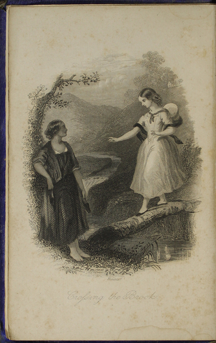 Frontispiece to the 1853 H. G. Bohn Reprint, Version 1 Depicting Ellen and Nancy at the Brook