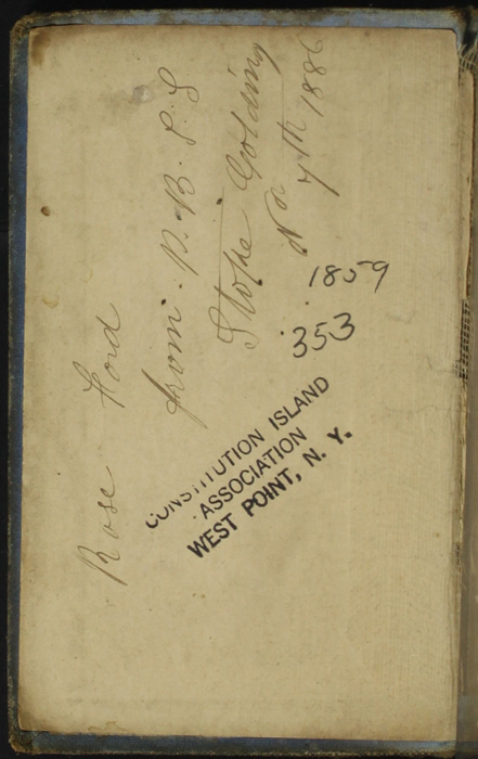 Front Pastedown with Inscription of the [1868] Milner & Co. Reprint, Version 1