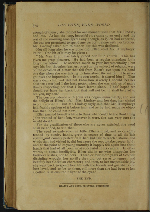Last Page of Text in the [1899] George Routledge & Sons, Ltd. Reprint, Version 1