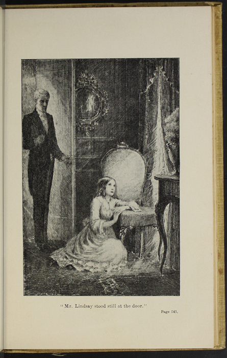 "Illustration on Page 544b of the 1892 J.B. Lippincott Co. ""New Edition,"" Reprint Depicting Mr. Lindsay Observing Ellen"