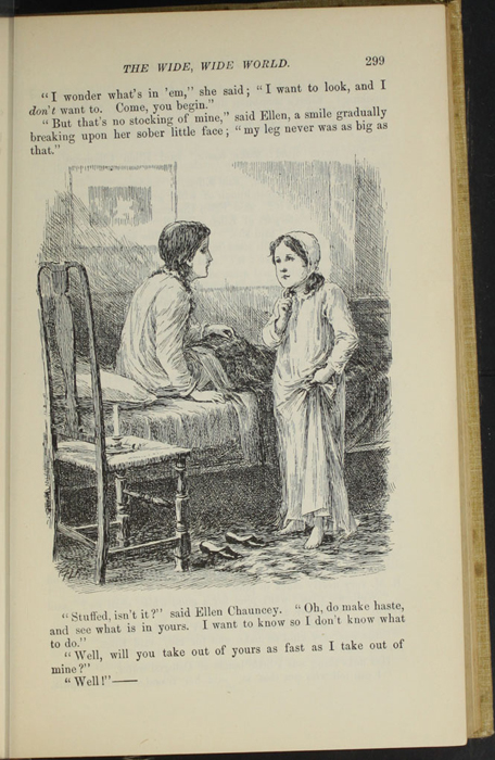 "Illustration on Page 299 of the 1892 J. B. Lippincott Co. ""New Edition"" Reprint Depicting Ellen and Ellen Chauncey"