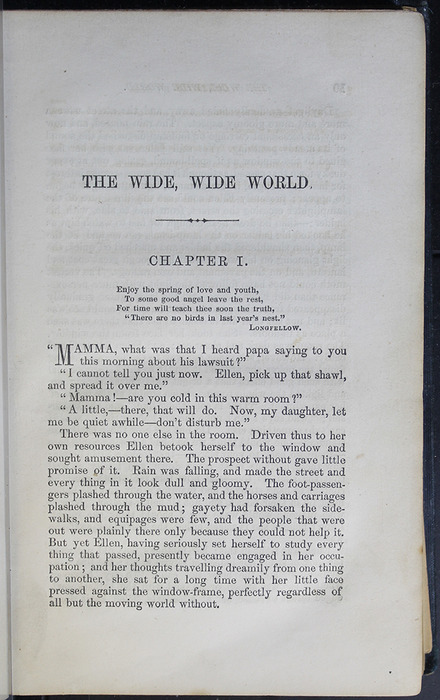 First Page of Text in Volume 1 of the 1852 George P. Putnam 16th Edition, Version 2