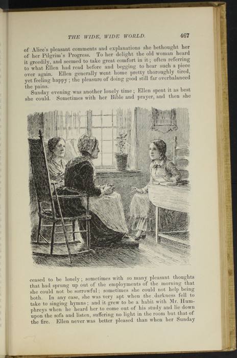 "Illustration on Page 467 of the 1892 J.B. Lippincott Co. ""New Edition"" Reprint Depicting Ellen Reading to Mrs. Blockson and Mrs. Forbes"