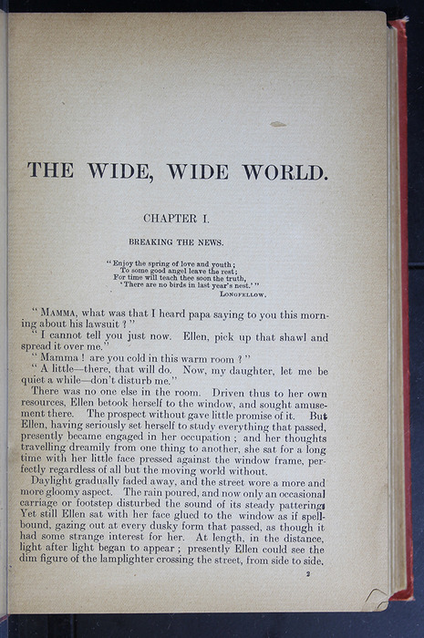 "First Page of Text in the [1896] S. W. Partridge & Co. ""Marigold Series"" Reprint"