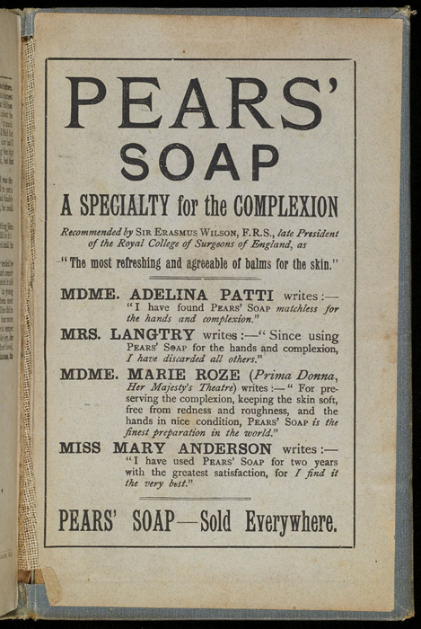 """Back Pastedown of the [1892] Ward, Lock & Co. """"Pansy Series"""" Reprint"""