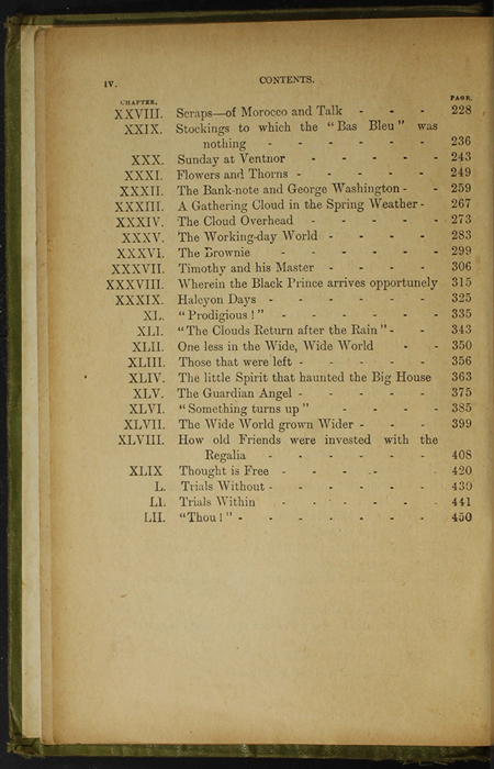 Second Page of the Table of Contents for the [1910] S. W. Partridge & Co., Ltd. Reprint