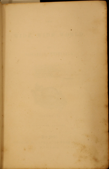 Recto of Second Front Flyleaf of Volume 1 of the 1852 George P. Putnam 16th Edition, Version 1