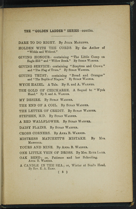 Fourth Page of Back Advertisements in [1893] James Nisbet & Co. Reprint, Version 1