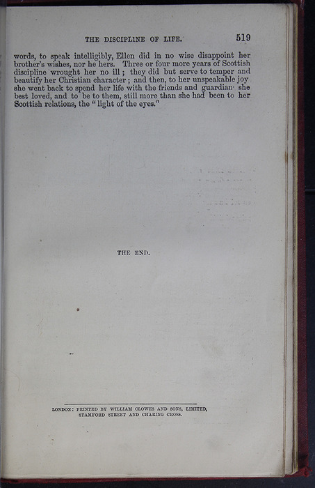 Last Page of Text of the G. Bell 1889 Reprint
