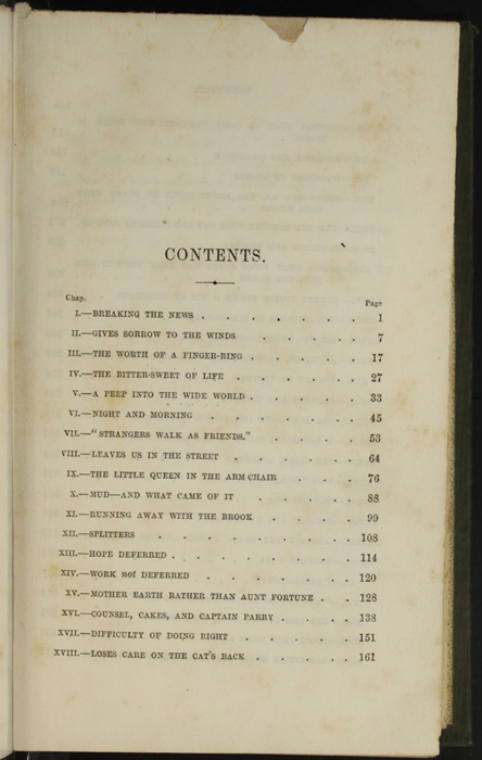 "First Page of the Table of Contents for the 1853 H. G. Bohn ""Standard Library"" Reprint"