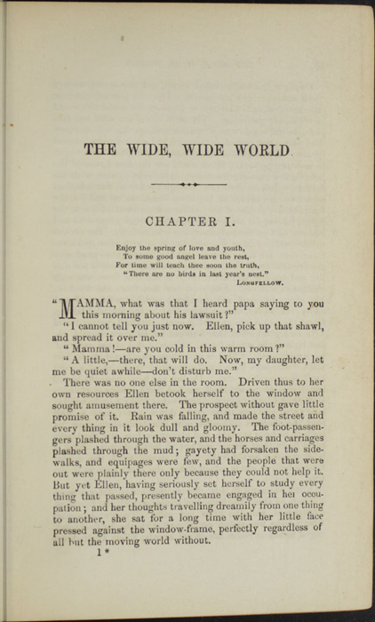 "First Page of Text in Volume 1 of the 1869 J. B. Lippincott & Co. ""New Edition"" Reprint"