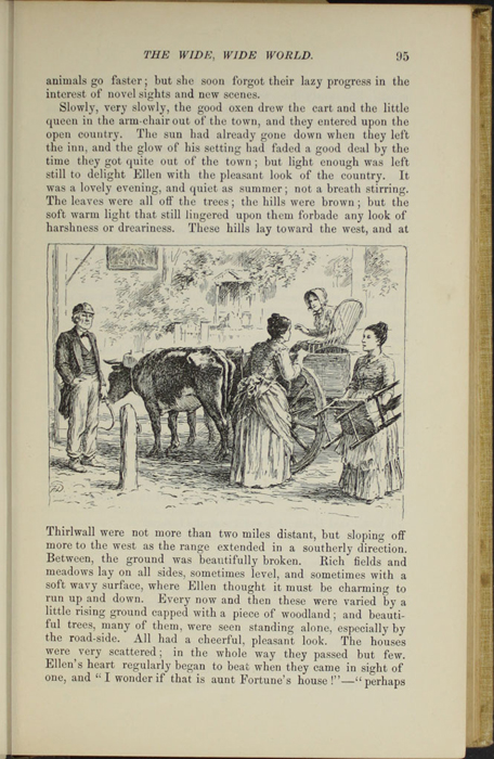 "Illustration on Page 95 of the 1892 J. B. Lippincott Co. ""New Edition"" Reprint Depicting Ellen in the Ox Cart"