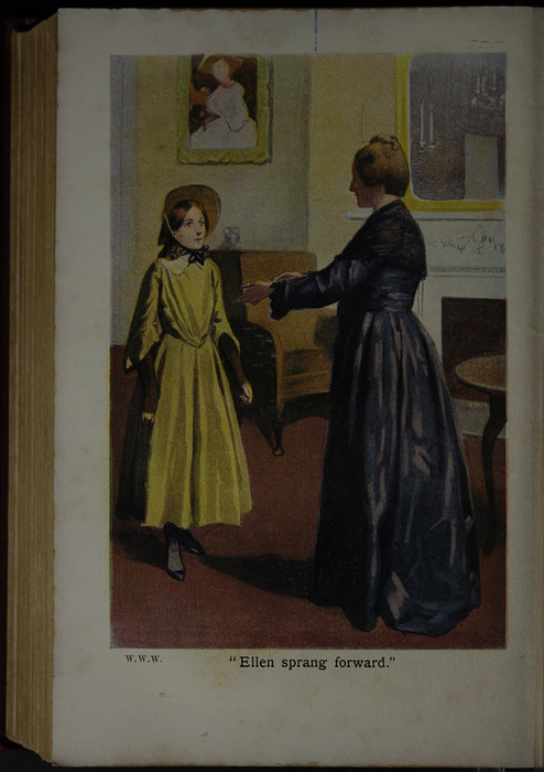 "Illustration depicting Ellen and Lady Kieth in the [1909] Collins' Clear-Type Press ""The Imperial Series"" Reprint"