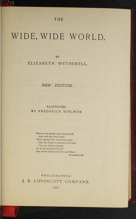 """Title Page to the 1903 J.B. Lippincott """"New Edition"""" Reprint"""