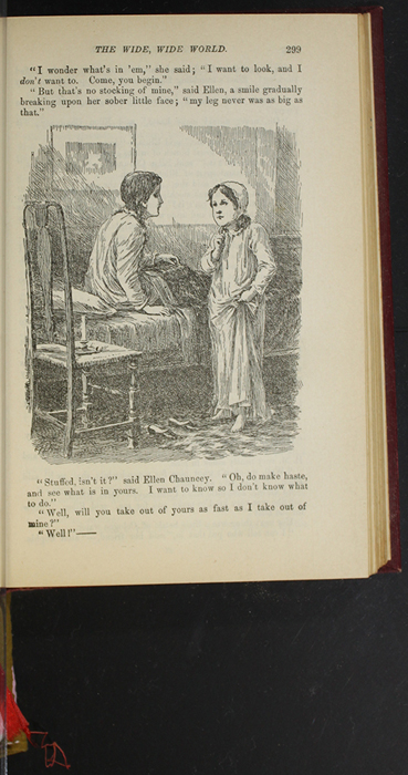 """Illustration on Page 299 of the 1903 J.B. Lippincott Co. """"New Edition"""" Reprint Depicting Ellen and Ellen Chauncey on Christmas Morning"""