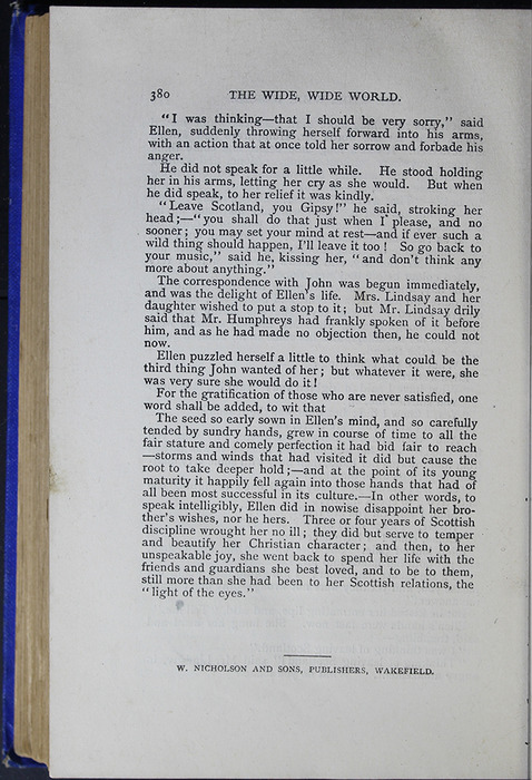 Last Page of Text in the [1887] W. Nicholson & Sons Reprint, Version 2