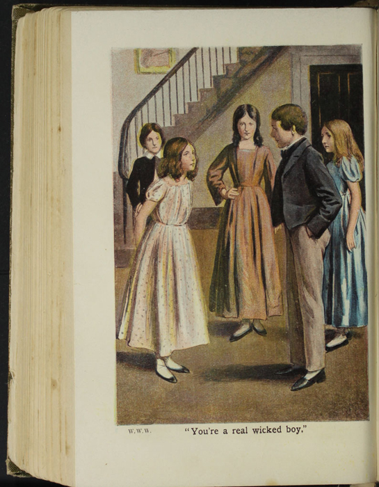 Illustration on Page 284b of the [1907] Collins' Clear-Type Press Reprint Depicting Ellen Confronting the Children Playing at the Marshman's