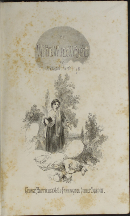 Title Page Vignette to the 1853 G. Routledge and Co. Reprint Depicting Alice Telling Ellen of Her Illness