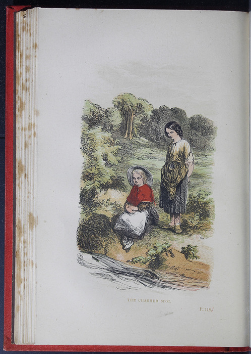 """Illustration on Page 114b of the 1879 James Nisbet & Co. """"Golden Ladder Series"""" Reprint Depicting the Charmed Spot"""