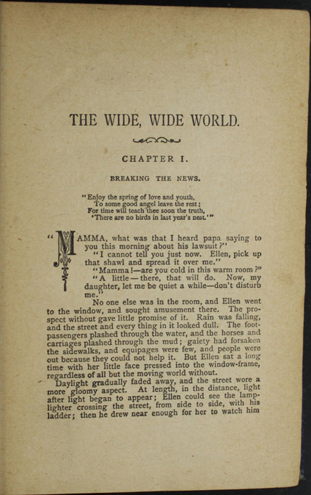 First Page of Text in the [1887] W. Nicholson & Sons, Ltd. Reprint