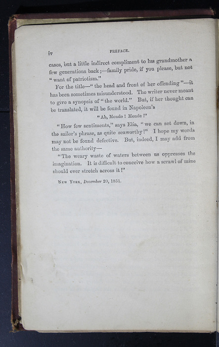 """Page iv of the Preface to the 1886 James Nisbet & Co. """"New Edition"""" Reprint"""