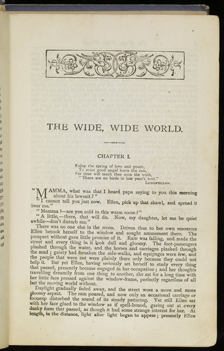 """First Page of Text in the [1884] Ward, Lock & Co. """"Lily Series, Complete Edition"""" Reprint"""