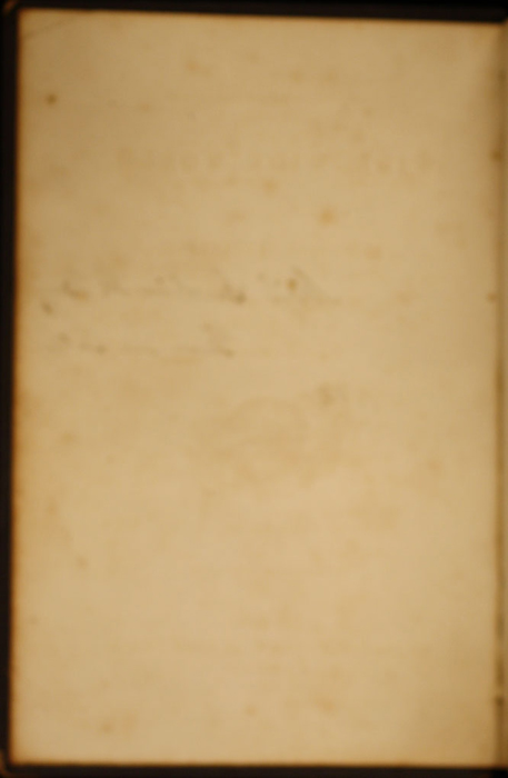 Verso of Front Flyleaf of Volume 2 of the 1852 George P. Putnam 16th Edition, Version 1