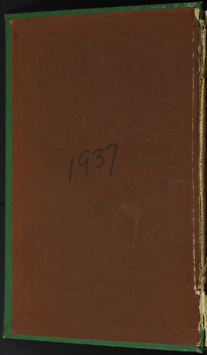 """Front Pastedown of the 1880 J. B. Lippincott & Co. """"New Edition"""" Reprint"""