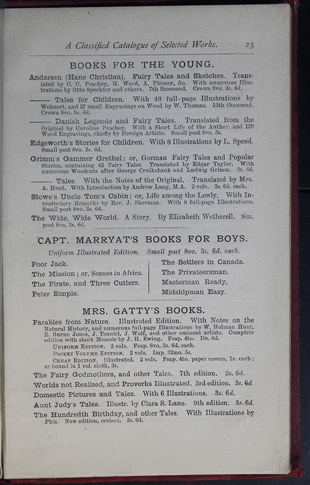 Twenty-Third Page of Back Advertisements of the G. Bell 1889 Reprint