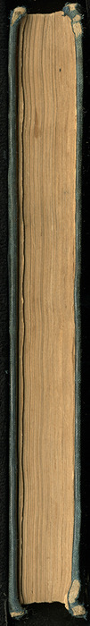 Fore Edge of Volume 2 of the 1852 George P. Putnam 16th Edition, Version 2