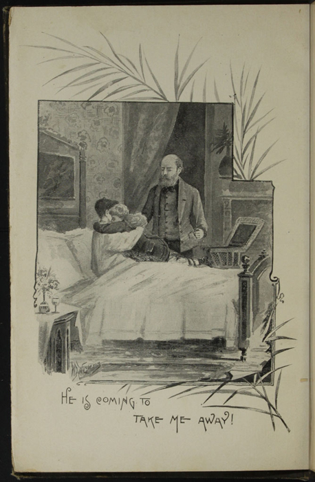 "Frontispiece to the [1895] William L. Allison Co. ""Allison's New Stand Library"" Reprint Depicting Ellen Saying Goodbye to Mamma"