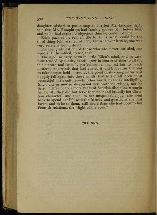 """Last Page of Text in the [1895] William L. Allison Co. """"Allison's New Standard Library"""" Reprint"""
